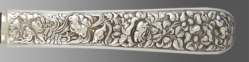 floral-electroplate by tiffany at Beverly Bremer Silver Shop