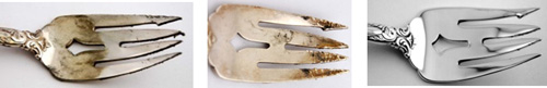 Forks before and after repair