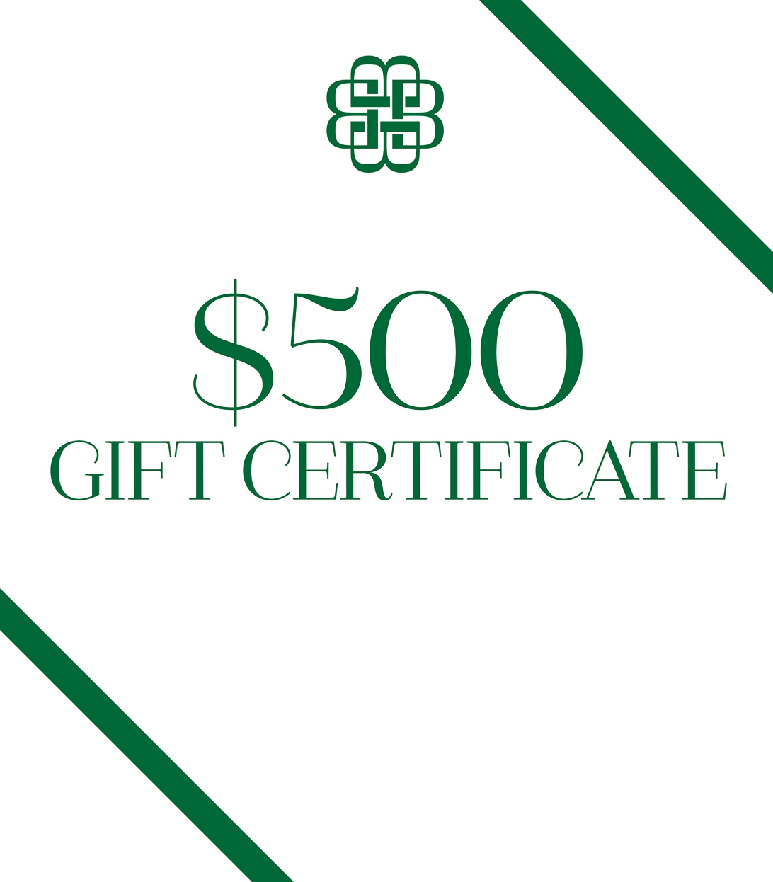 #82739 - Gift Certificate by BBSS-- $500 GIFT CERTIFICATE
