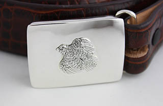 "#92028 - Belt Buckles by Grainger Mc Koy QUAIL BELT BUCKLE with 36"" BELT"