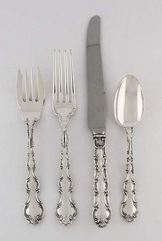 #90263 - Strasbourg by Gorham 47-PC SET 8/5PPS LUNCH W/7SERVE