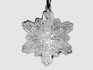 #20137 - Ornaments by Towle 1990 OLD MASTER SNOWFLAKE 1st