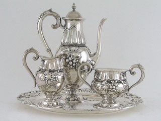 #34888 - Tea Set-Demitasse by All Makers THEO B.STARR #1268 3PC/TRY LMB