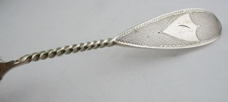 "#43687 - Coin Silver by Maker SUGAR SIFTER BAILEY & CO. ""C"""
