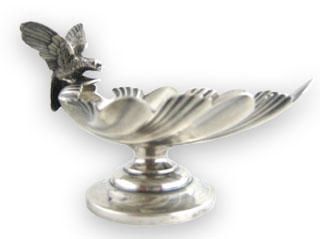 #62854 - Salt Cellars by All Makers WHITING #124 C1890 BIRD SET/4