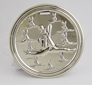 #78080 - Ornaments by Carrs of Sheffield 12 DAY 10 LORDS LEAPING#XMDC10