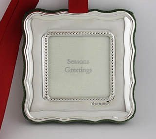 #82355 - Ornaments by Carrs of Sheffield PHOTO FRAME SQ SCALLOPED #XM09
