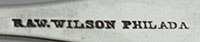 #83080 - Coin Silver by Maker R&W WILSON TABLE SPOON*CSP