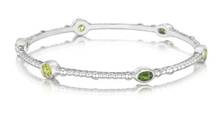 #83863 - Bracelets by Thistle & Bee #105-6286PDTM BANGLE W/GREEN T