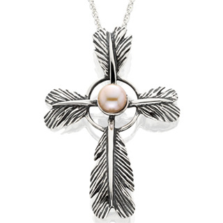 #84072 - Necklaces by Grainger Mc Koy NECKLA CROSS W/PEARL LG #PDFCL